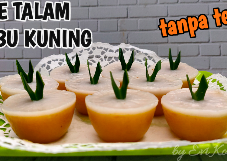 Kue Talam Labu Kuning Tanpa Telur
