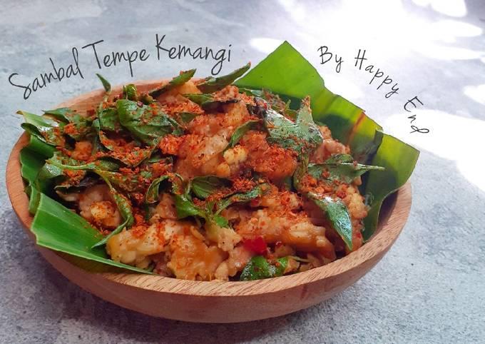 sambal tempe kemangi - resepenakbgt.com