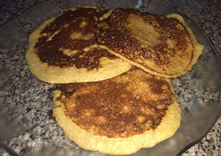 Waffles de avena banana y miel