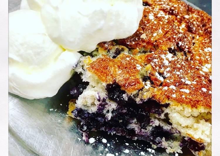 Recipe of Super Quick Homemade Cakey Blueberry Cobbler Recipe