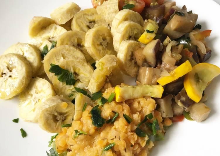 Recette Des Banane plantain & ses légumes