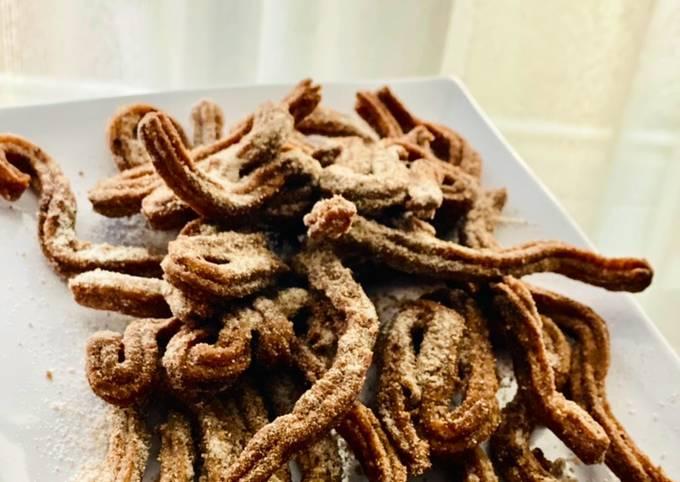 Resep Churros (ampas) kacang merah Anti Gagal