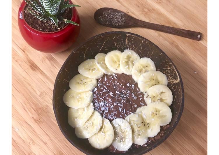Chia pudding chocolat banane