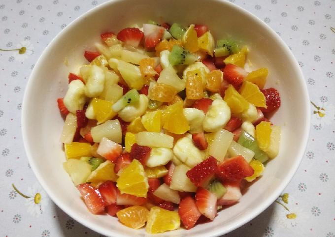 Salade de fruits sans sucre ajouté ❤
