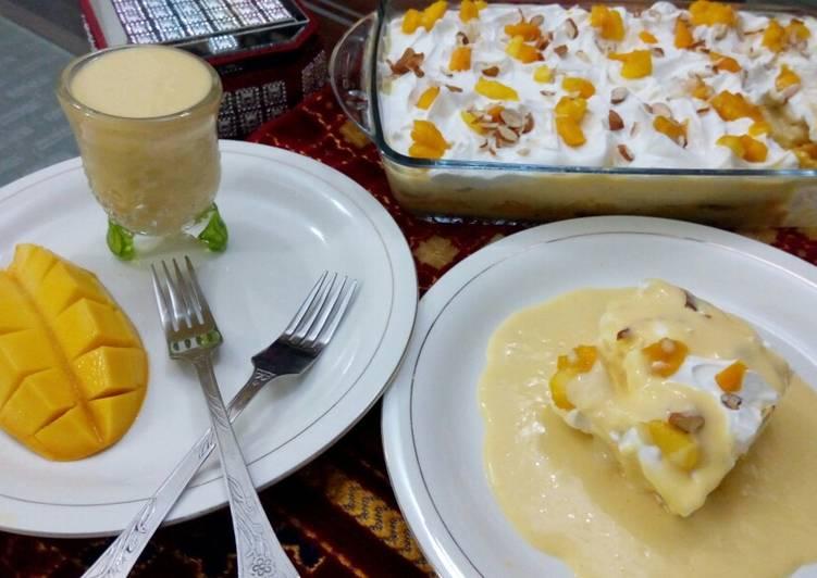 Mango milk cake (no bake)