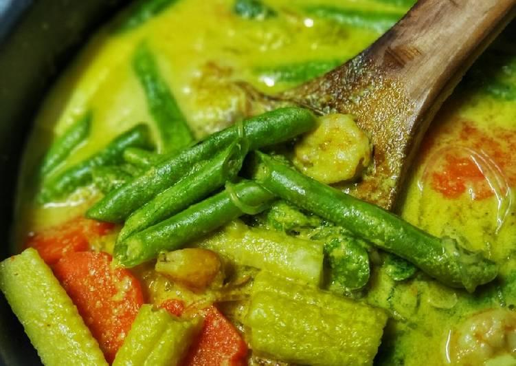 Resipi Masak Lemak Udang Bersama Sayur Campur Oleh Arieza
