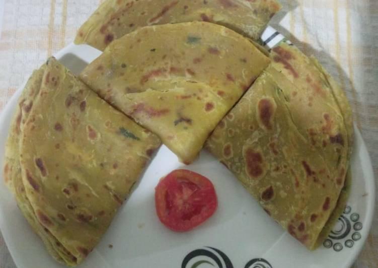 Recipe of Award-winning Butternut layered chapati#5orlessingredientsrecipecontest#
