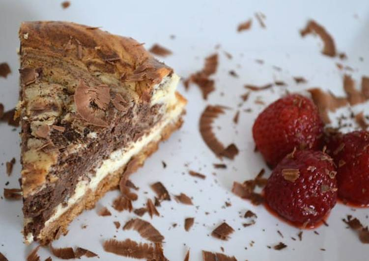 Recipe of Award-winning Chocolate Marble Cheesecake