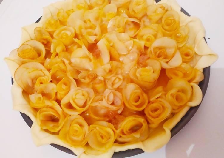Le moyen le plus simple de Préparer Appétissante Recette tarte aux pommes rosés🌹 Facile'et simple