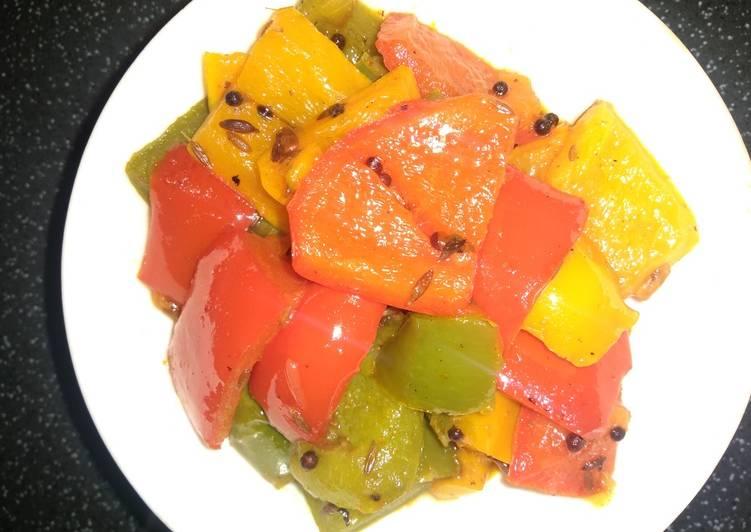 Recipe of Favorite Aachari Shimla mirch