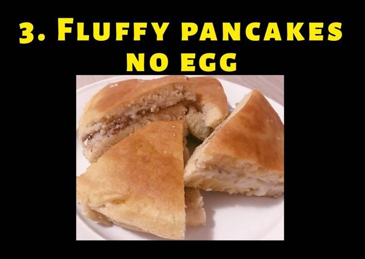 Fluffy pancakes no egg