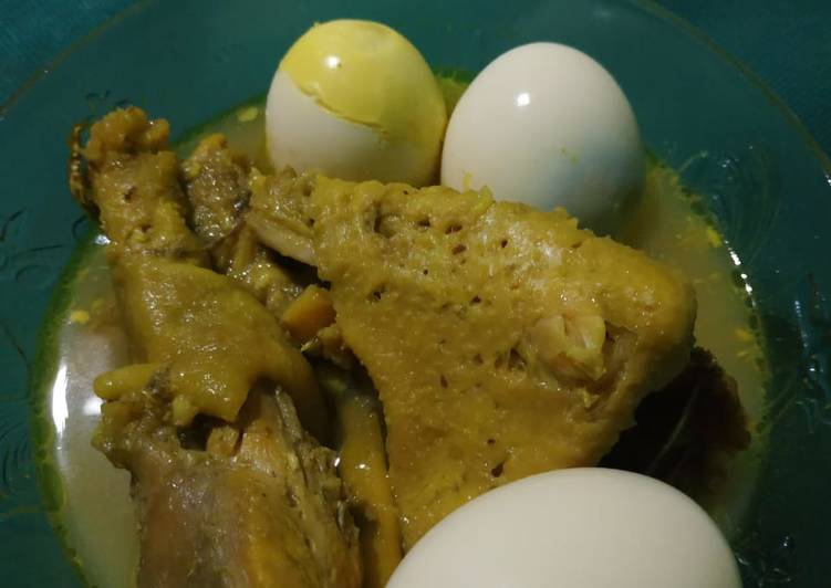 Ayam horen diungkep dg rice cooker, lezat