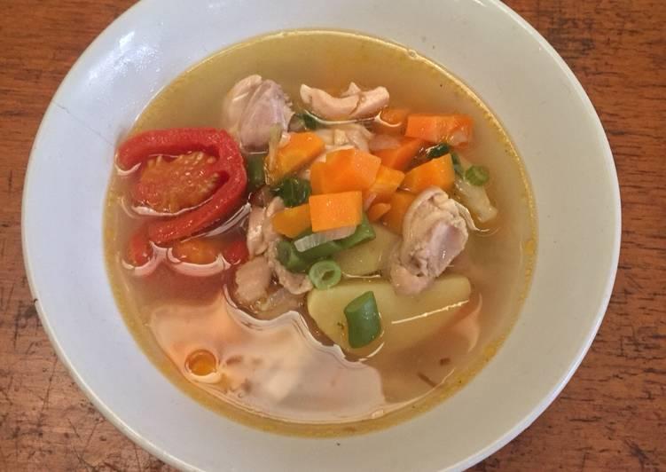 Resep Sayur Sop Ayam Gurih 🤤 (favorite si kecil) #5resepterbaruku Favorit