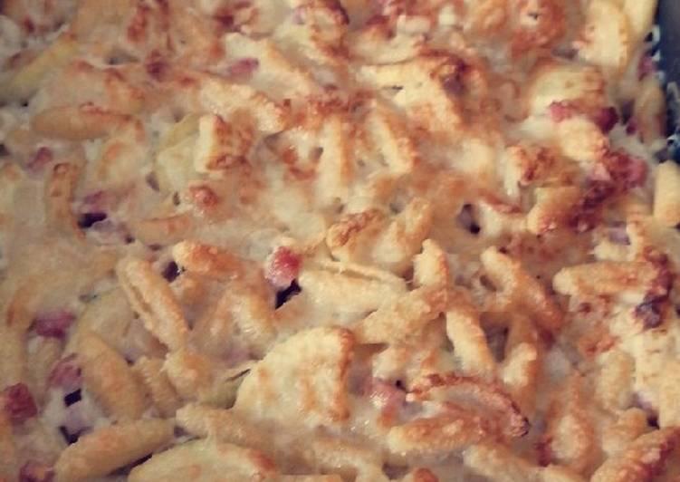 Comment Préparer Des Gratin de Pâtes courgettes et Chèvre