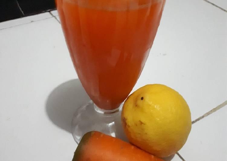 Jus wortel lemon