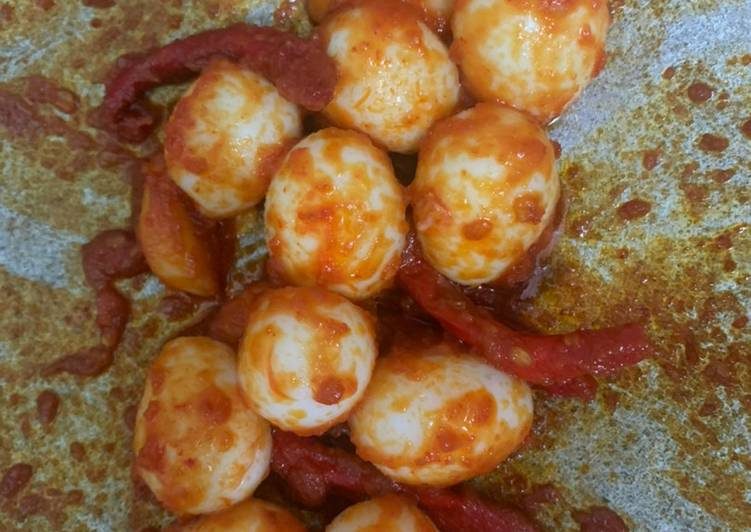 Resep Balado telur puyuh yang Menggugah Selera