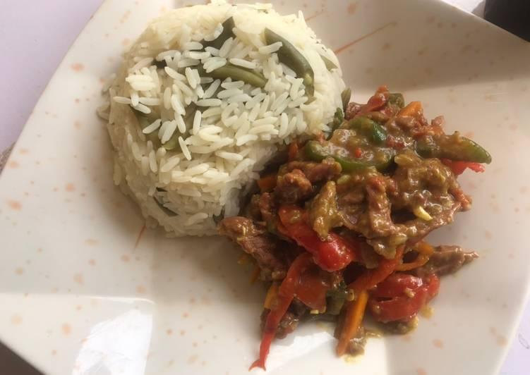 Beef sauce &Rice