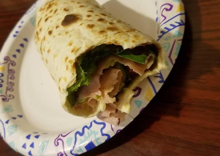 BLT Avacado Turkey wrap