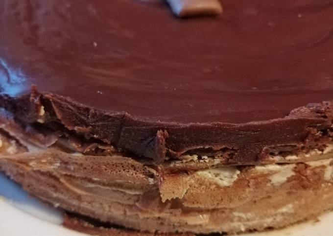 Gâteau de crêpes façon tiramisu chocolat