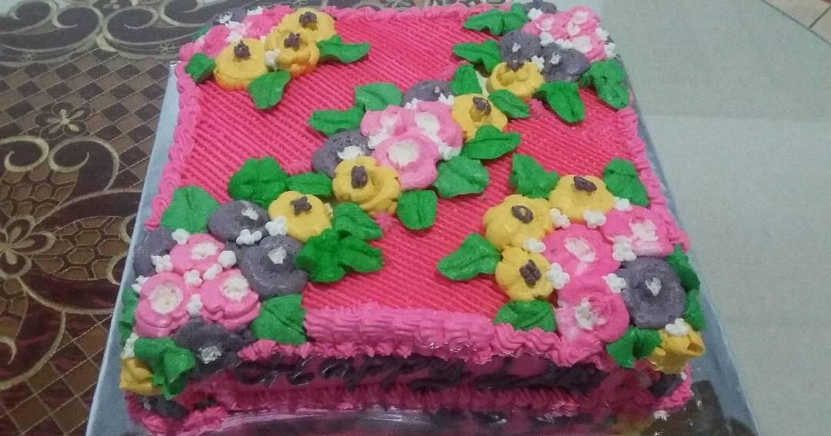 Resep Kue Ulang Tahun Bunga Bunga Oleh Yunita Hatibie Cookpad