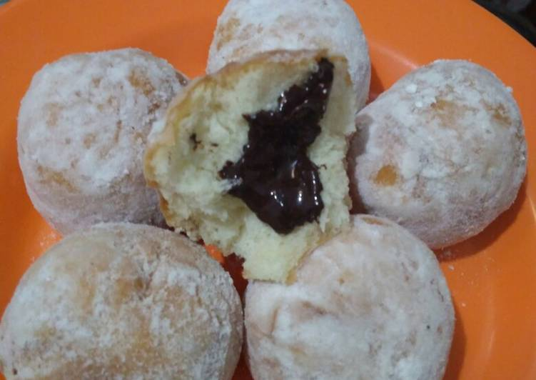 Resep Donut Isi Coklat Lumer Takaran Sendok Oleh Sri Cookpad