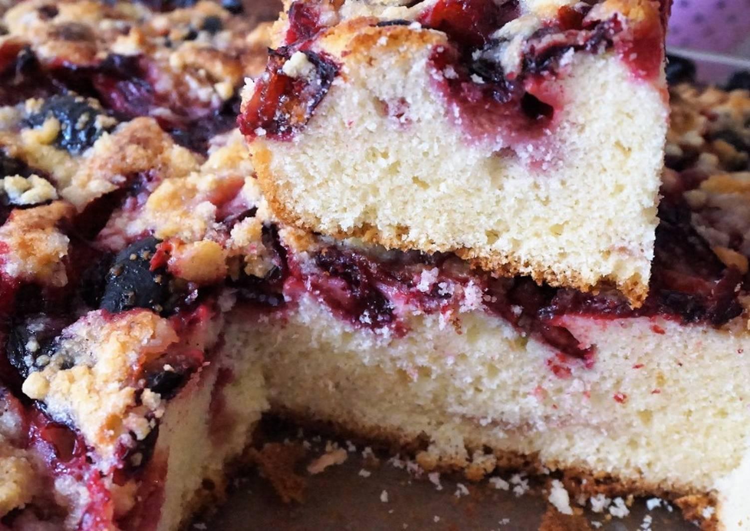 пирог со сливами рецепт простой с фото выйдет