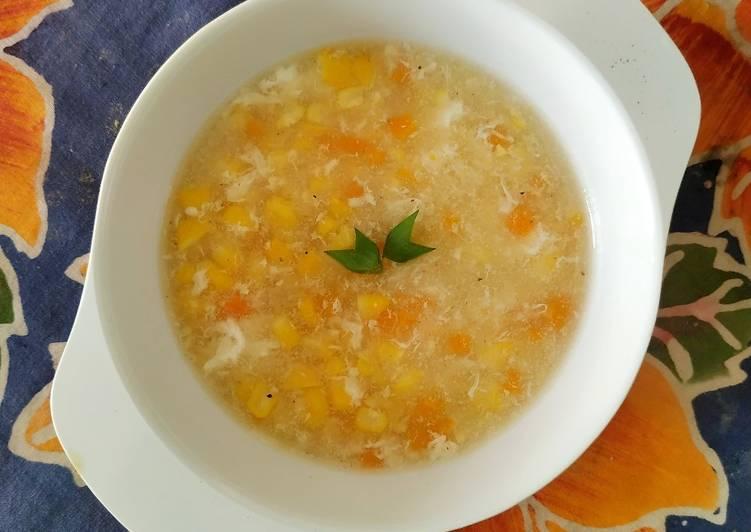Sup jagung telur