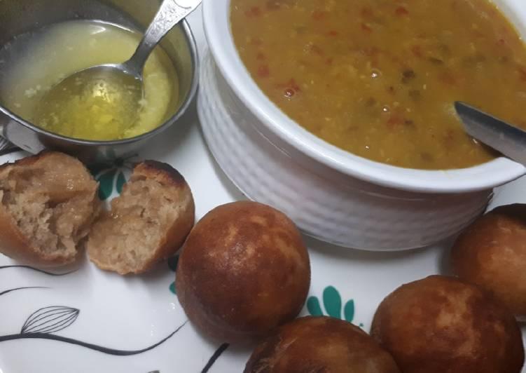 Dal baatis in appe pan