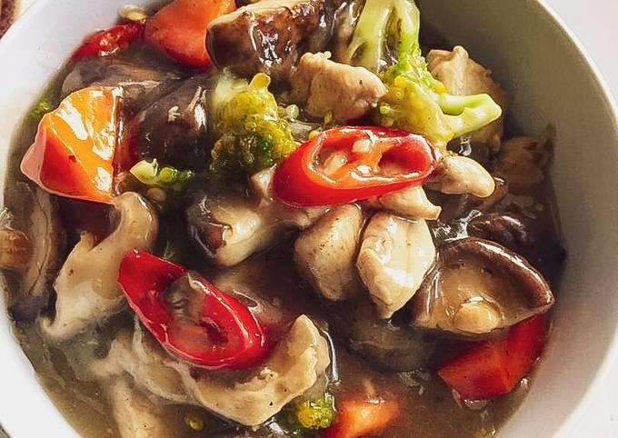 Cendawan Shitake Minyak Bawang Putih 🍄🍛