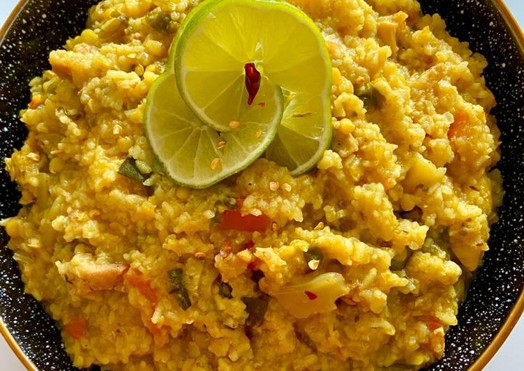 Norom Khichuri (Mushy Rice with lentils & vegetables) #Ramadan