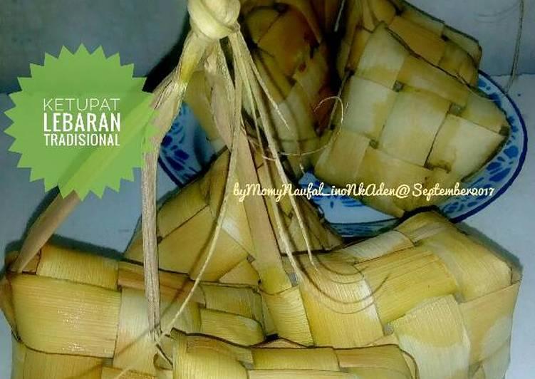 Ketupat lebaran versi tradisional jadul #kitaberbagi