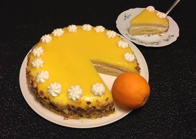 Gâteau à la crème d'Orange