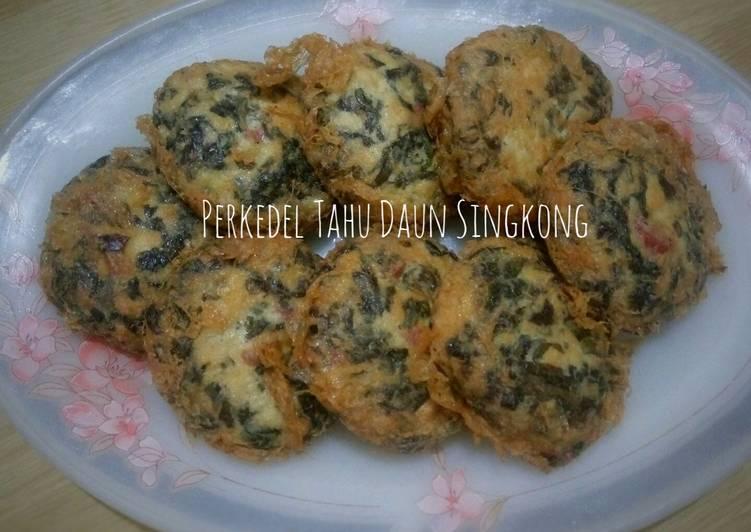 Perkedel Tahu Daun Singkong - cookandrecipe.com