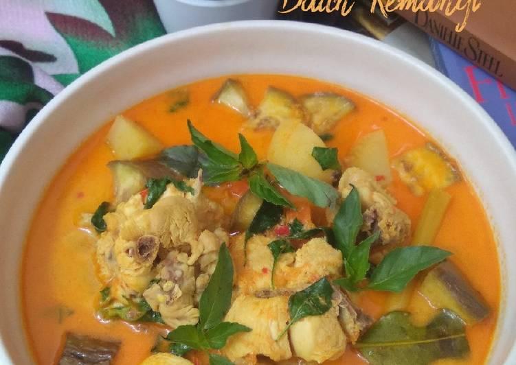Resep Kare Ayam sayur daun kemangi yang Enak Banget