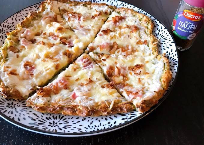 Pâte à pizza courgettes