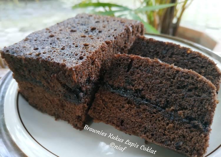 Brownies Kukus Lapis Coklat aLa NCC
