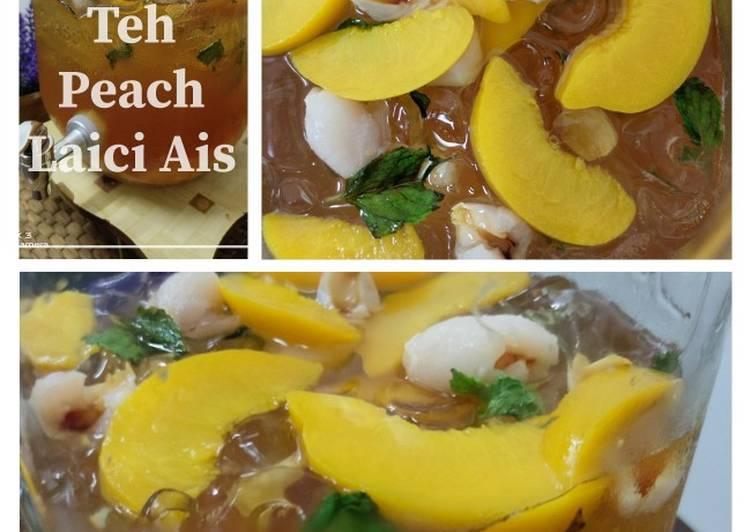 Teh Peach Laici Ais - resepipouler.com