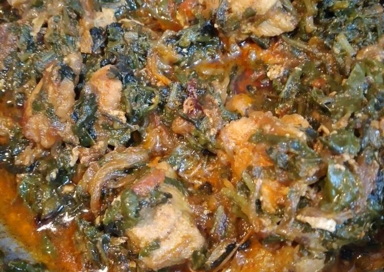 Palak with boneless chicken