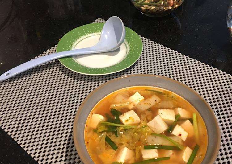 Soup tofu asam pedas