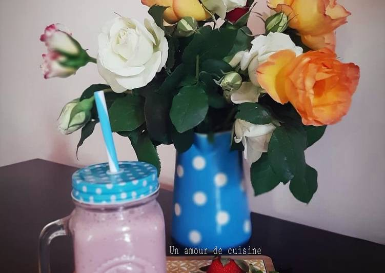 Recipe: Perfect Smoothie fraises 🍓
