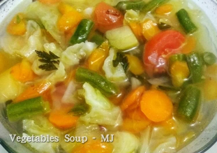 Resep Sayur Sop Simpel (Sop Sayuran, Vegetables Soup), Lezat Sekali