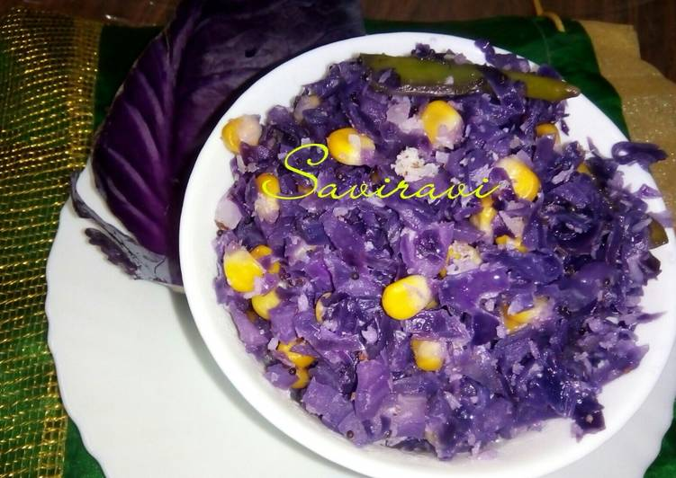 Cabbage Corn stir-fry
