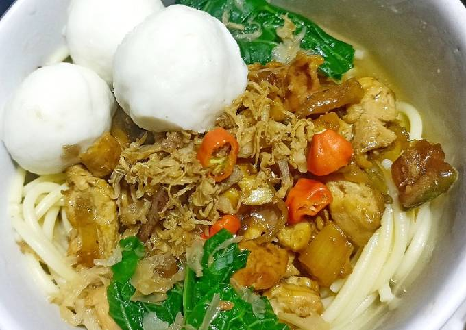 Mie ayam sehat Tanpa Mie (menu diet)