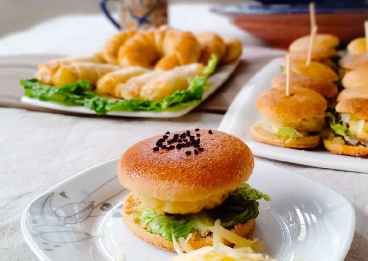 Mini burgers au poisson