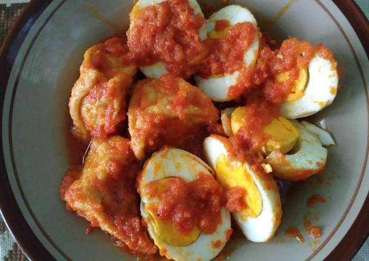 Telur Tahu Masak Habang alias bumbu bali/merah