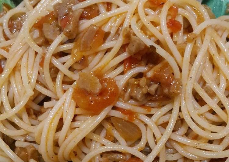 Spagetti Bolognise Homemade & Baso Cincang