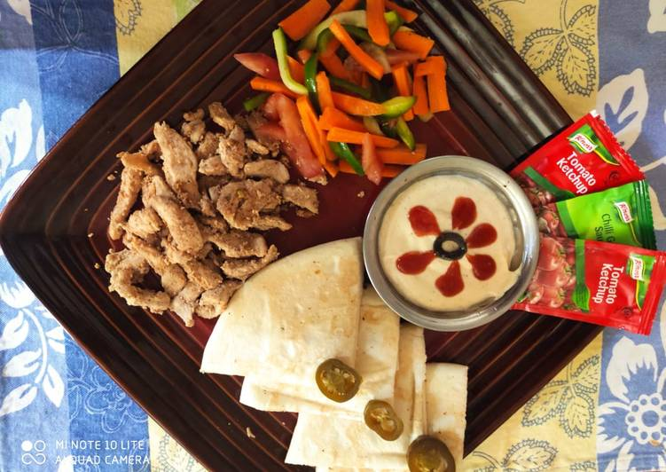 Simple Way to Prepare Quick Chicken shawarma
