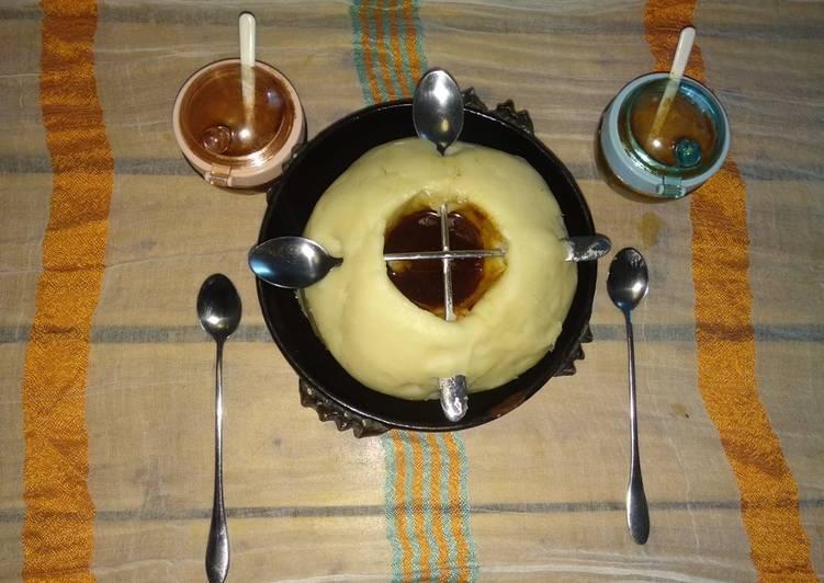 """One of my favorite Ethiopian food """"genfo"""", (porridge)"""