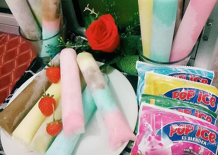 resep es lilin pop ice lembut oleh neni