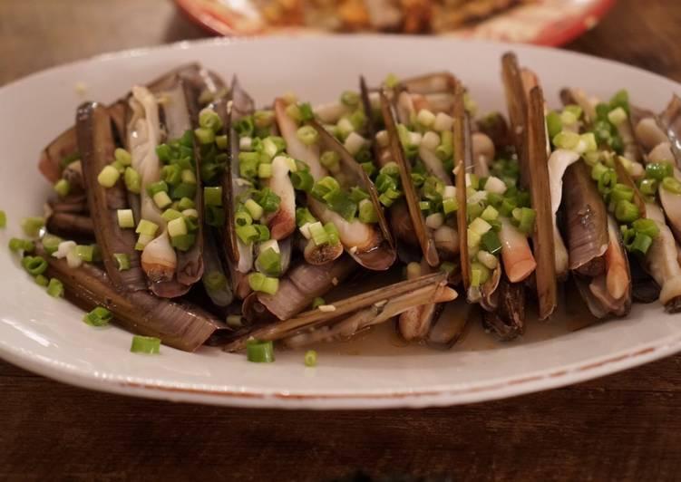 Razor clam, Asian flavour